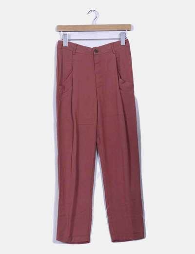 Pantalon chaudière piqué Zara