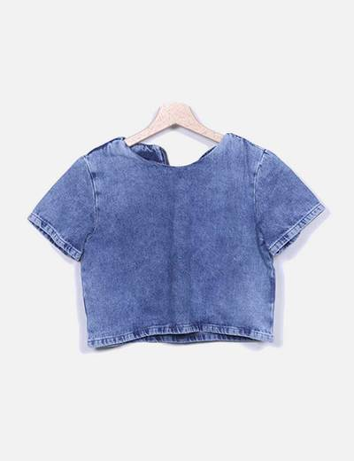 Camiseta denim azul