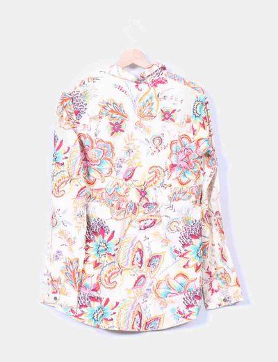 Maxi camisa de flores