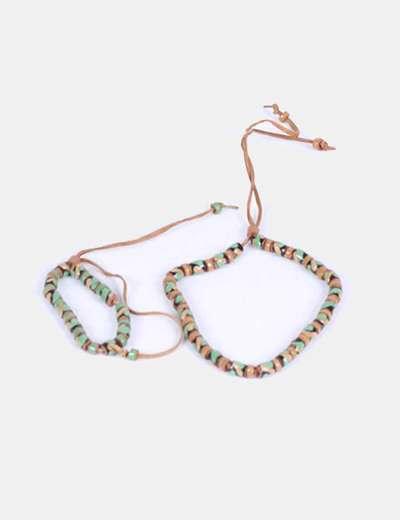 Conjunto collar y pulsera artesanal  NoName