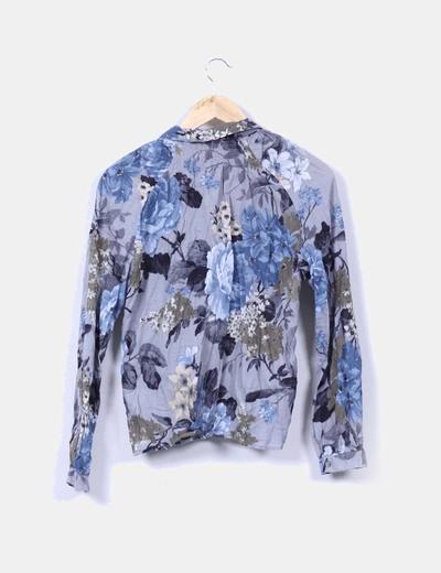 Camisa floral manga larga
