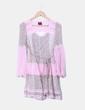 Vestido floral combinado rosa IRIS
