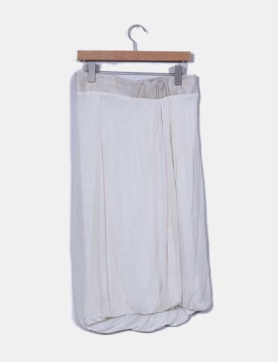 Falda midi doble capa