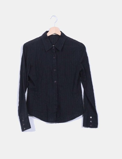 Camisa negra de rayas Tex Woman