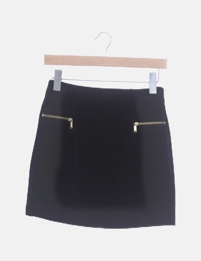 Falda negra velvet