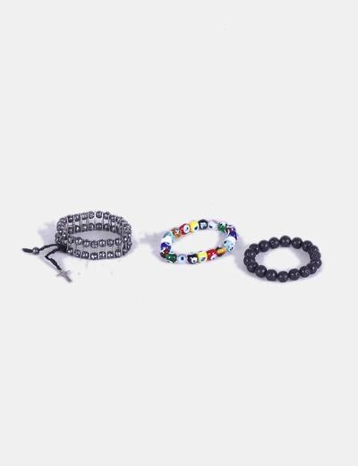 Conjunto de pulseras de bolas NoName