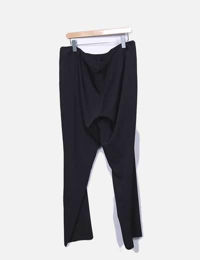 Pantalon recto fluido negro