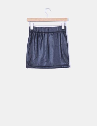 último descuento modelos de gran variedad mirada detallada Mini falda negra de vinilo