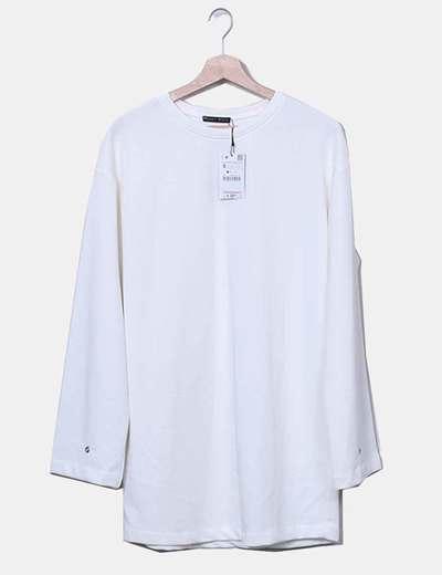 Robe blanche cassé droit Zara