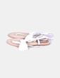 Sandalia blanca lazo Zara
