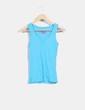 Camiseta azul básica cuello en pico Atmosphere