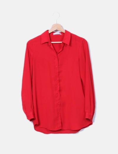 Camisa fluida roja Mango