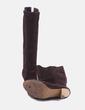 Bota marrón de tacón Zara