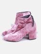 Botín velvet rosa Asos