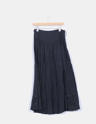 Falda negra con palettes