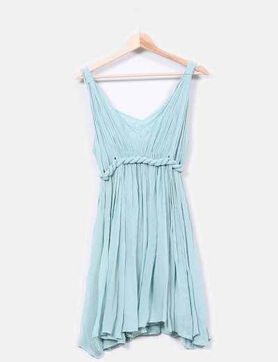 Vestido azul celeste con cuerda