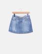 Mini falda denim azul claro Zara