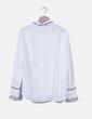 Camisa blanca cuello bordado floral Zara