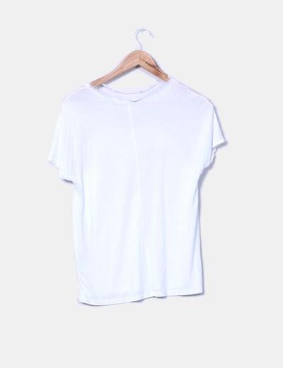 Camiseta blanca print letras combinada