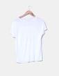 Camiseta blanca print letras combinada Lefties