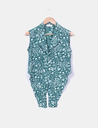 Blusa verde floreada Viventy