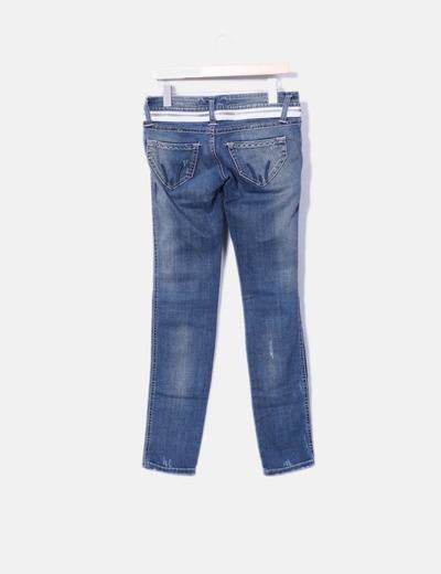 Jeans denim cremallera