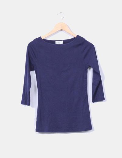 Top básico azul marino Zara