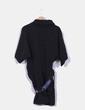 Vestido negro detalle cinturón de abalorios  Amarillolimon