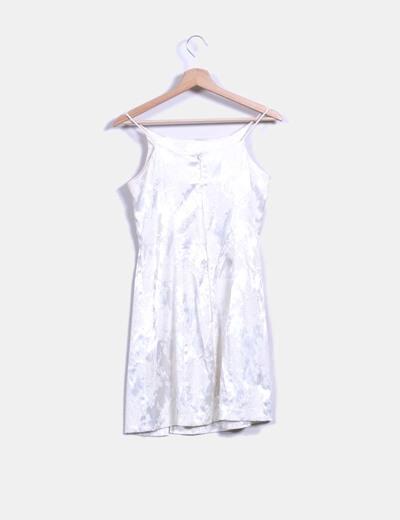buscar genuino muchos de moda comprar mejor Vestido de raso blanco texturizado
