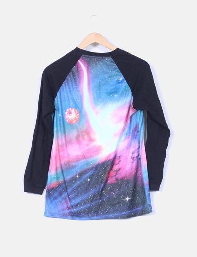 Camiseta con estampado multicolor