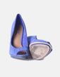 Zapato de tacón azul peep toe  Pull&Bear