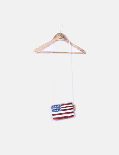 Bolso mini paillettes bandera Suiteblanco
