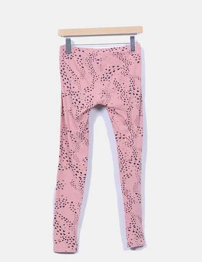 Leggings rosa print corazones