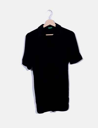 Polo noir Benetton