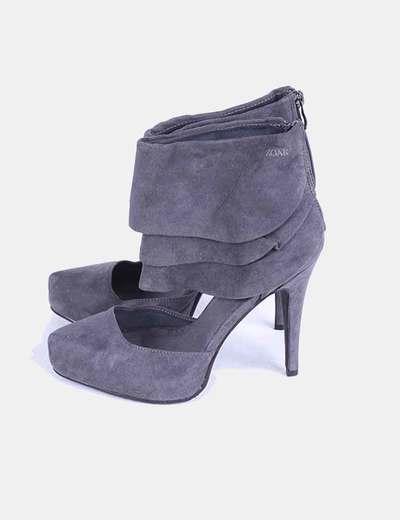Zapato gris abotinado de ante Zoak