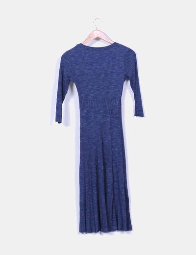 Maxi vestido azul marino canale