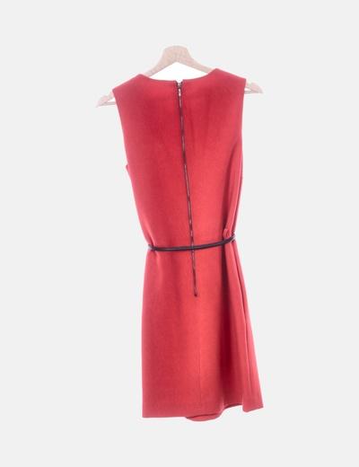 bastante agradable 5640c 1c791 Vestido rojo con cinturón