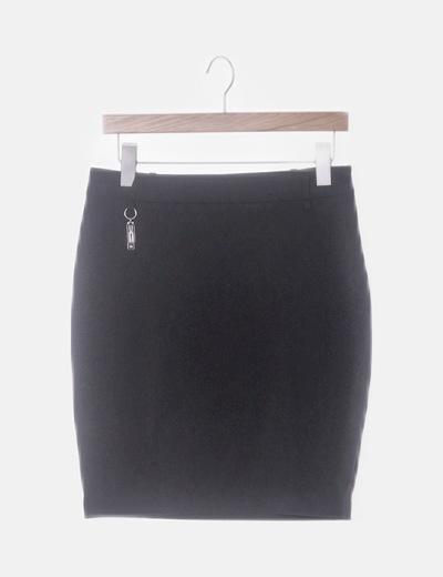 Falda lápiz negra