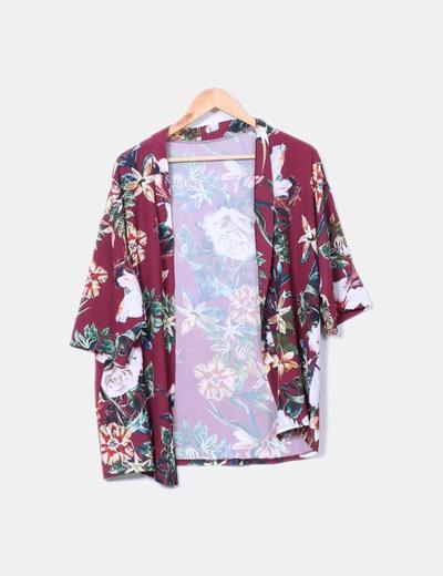 Kimono floral burdeos NoName
