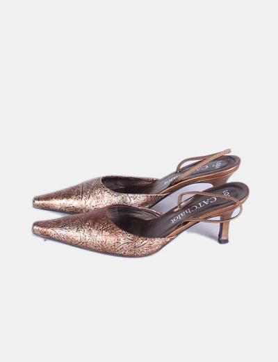 Zapatos dorados destalonados Lodi