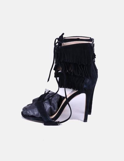 Chaussures noires à talons frangés Steve Madden