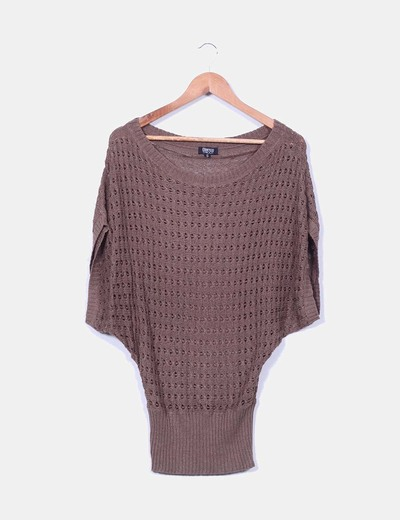 Top tricot troquelado oversize sin mangas