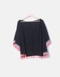 Kimono negro flecos flúor NoName