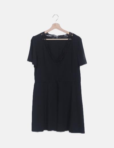 Vestido lencero negro