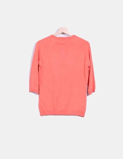 Chaqueta tricot coral