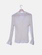 Camisa beige transparente de gasa Jotaele