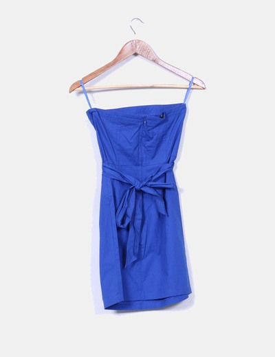 Vestido azul klein con strass