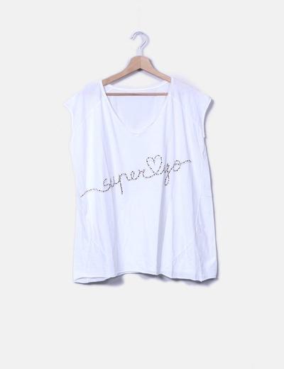 Camiseta blanca strass The Hip Tee
