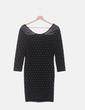 Vestido negro ceñido con abalorios H&M