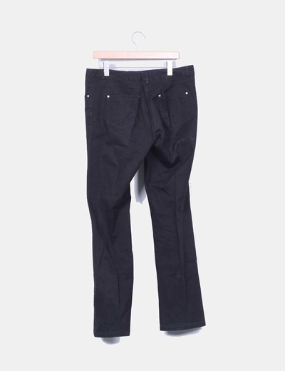 Pantalon recto color negro